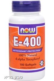 ויטמין E400 בכמוסות רכות NOW-