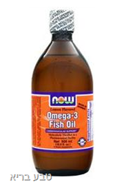 אומגה 3 נוזלי NOW Omega 3 Fish oil
