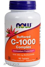 ויטמין C 1000 לא חומצי בשיחרור מושהה- NOW