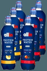 6 בקבוקי משקה מי חלבון אול אין | allin