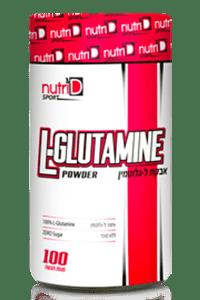 ל- גלוטמין 500 גרם L-GLUTAMIN נוטרי די ספורט