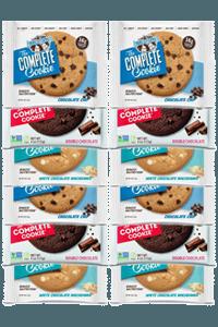 12 עוגיות חלבון טבעוניות   lenny & larry