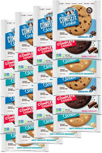 24 עוגיות חלבון טבעוניות   lenny & larry