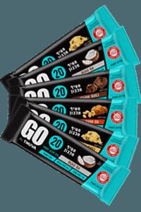 6 חטיפי חלבון GO   תנובה