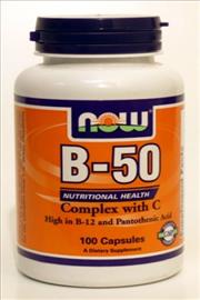 ויטמין B50+C- NOW