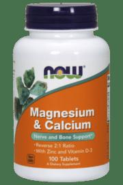 קלציום מגנזיום  NOW Magnesium calcium