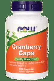 תרכיז חמוציות ויטמין C (מאה כמוסות) - NOW cranberry caps
