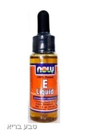ויטמין E טבעי בנוזל- NOW