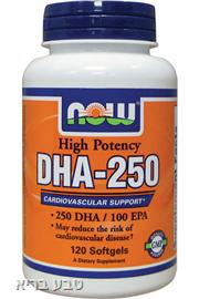 DHA 250 - לשיפור הזיכרון והפרעות קשב וריכוז-  NOW