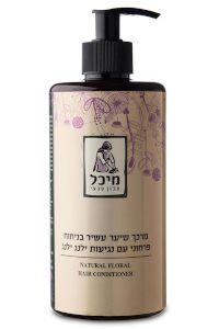 מרכך שיער טבעי עשיר בניחוח פרחוני עם נגיעות ילנג ילנג | מיכל סבון טבעי