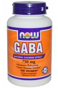 גאבא 750 מ״ג 100 כמוסות NOW GABA