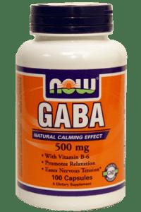 גאבא | GABA 500mg + B6 2mg 100 Caps Now