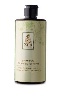שמפו טבעי מרענן בניחוח אורנים, ליסטאה, לבנדר וברוש | מיכל סבון טבעי