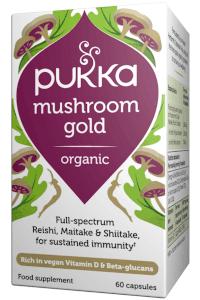 פטריות כוח | פטריות זהב pukka Mushroom Gold