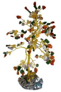 עץ קריסטלים עבודת יד